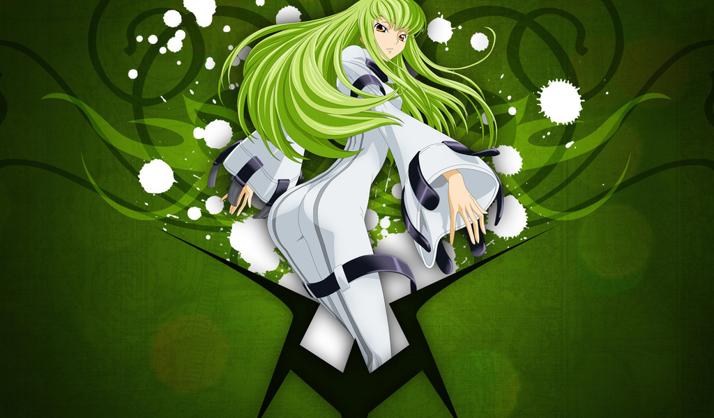 long hair, green, Code geass