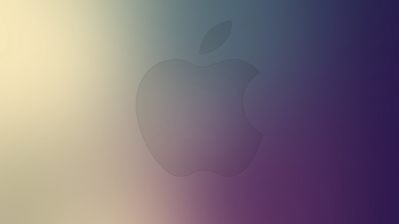 gradient, minimal art, minimalism, apple