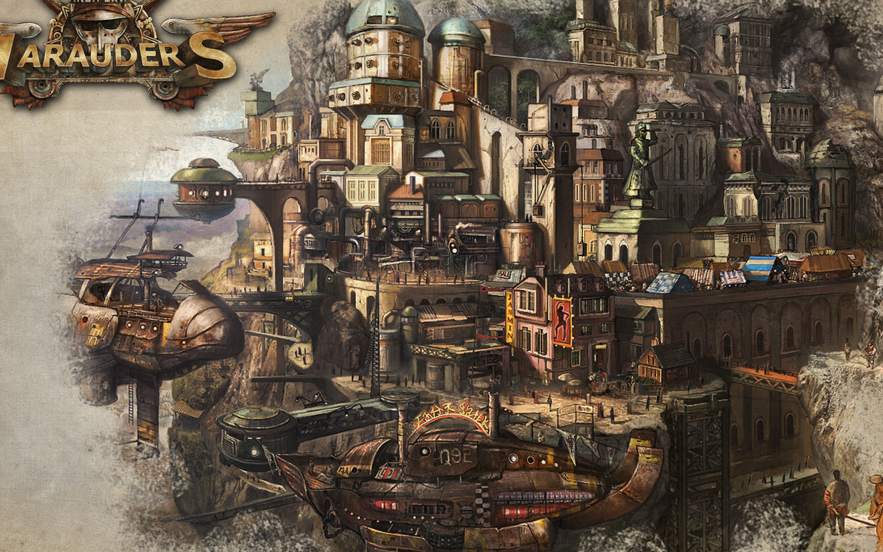 steampunk city names - HD 1280×800