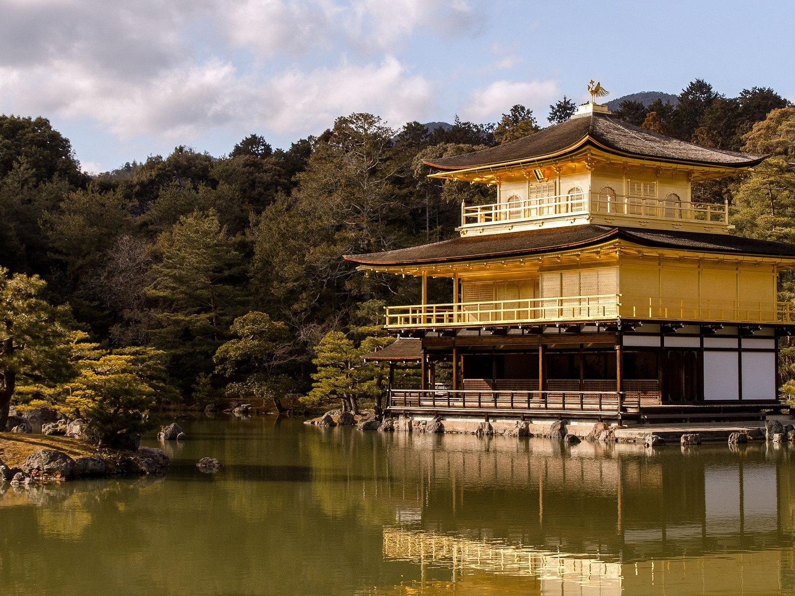 kyoto, the golden pavilion, japan