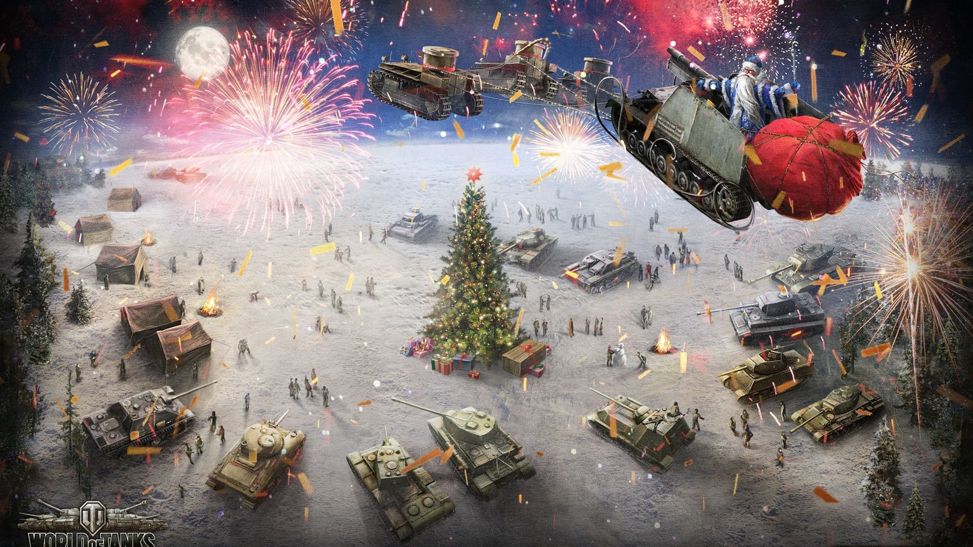 wot, world of tanks, Танки, Рождество