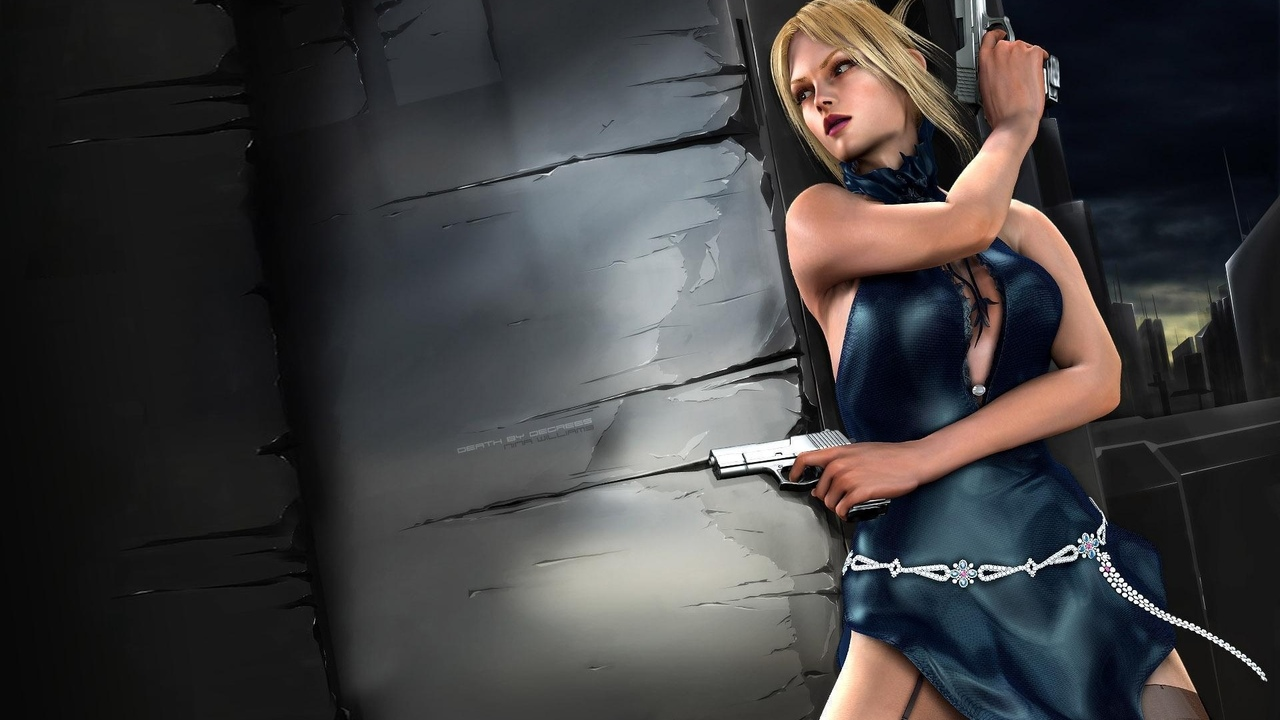 tekken, пистолеты, nina williams, теккен