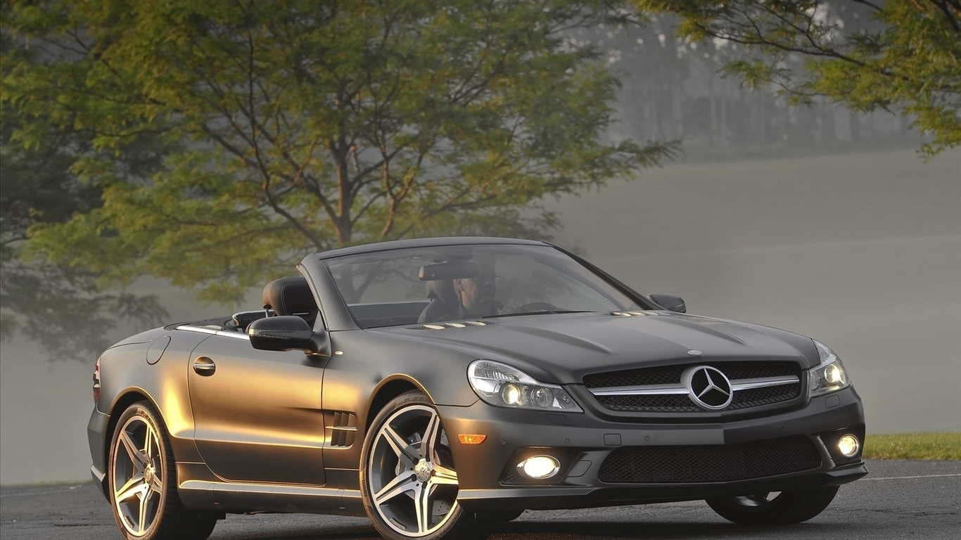 тачки, mercedes, авто, benz sl550 night edition, фото, мерседесы