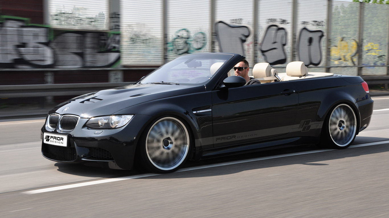 дорога, машина, скорость, car, prior design, tuning, bmw e93 m3, road, 3000x1875, speed