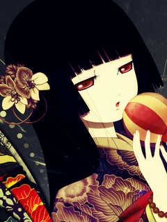 девушка, hell girl, аниме