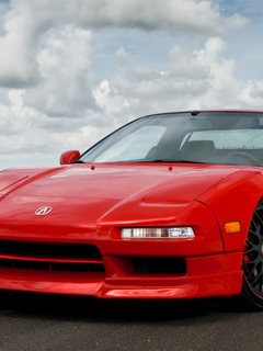 акура, передняя часть, acura, nsx, красная, red, sf system forged