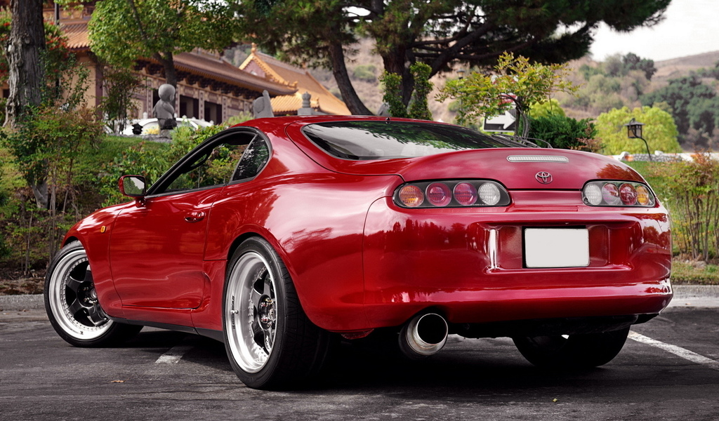 toyota, red, tuning, красная, supra