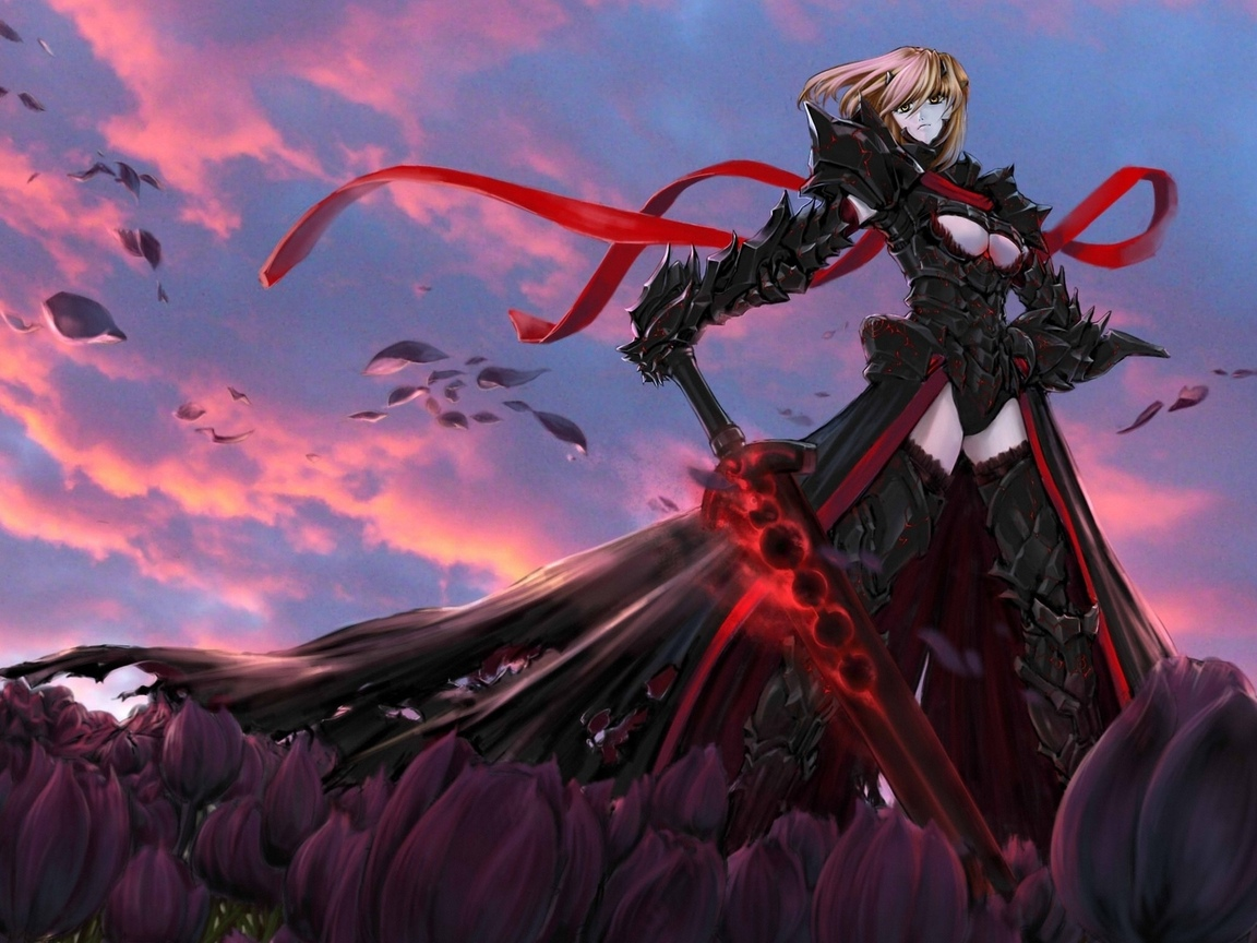 чет с лицом, fatestay night, dark saber