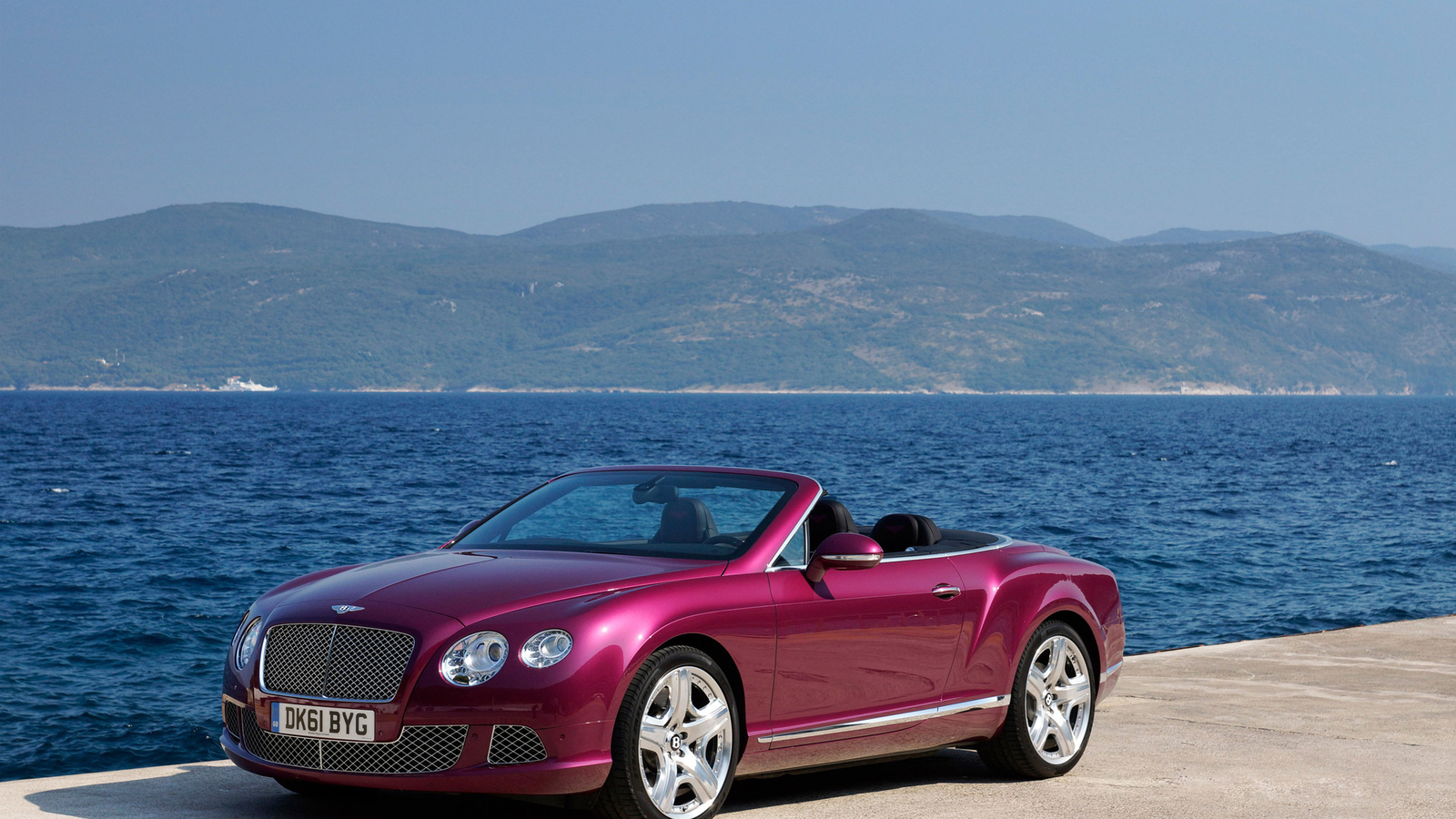 water, 2012 bentley continental gtc, nature, mountains, природа, вода, море, машина, горы, 3000x1977, car, небо, sky, sea