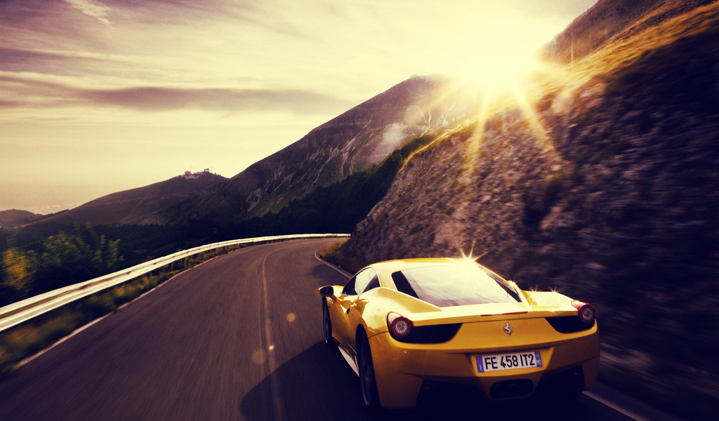yellow, ferrari, 458 italia, car