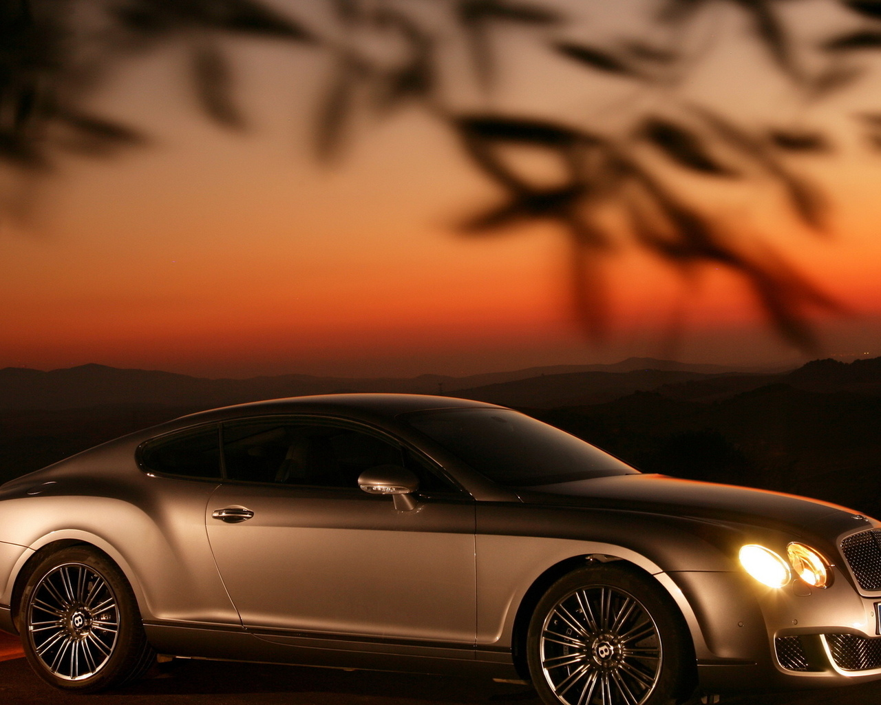 continental gt speed, sunset, bentley