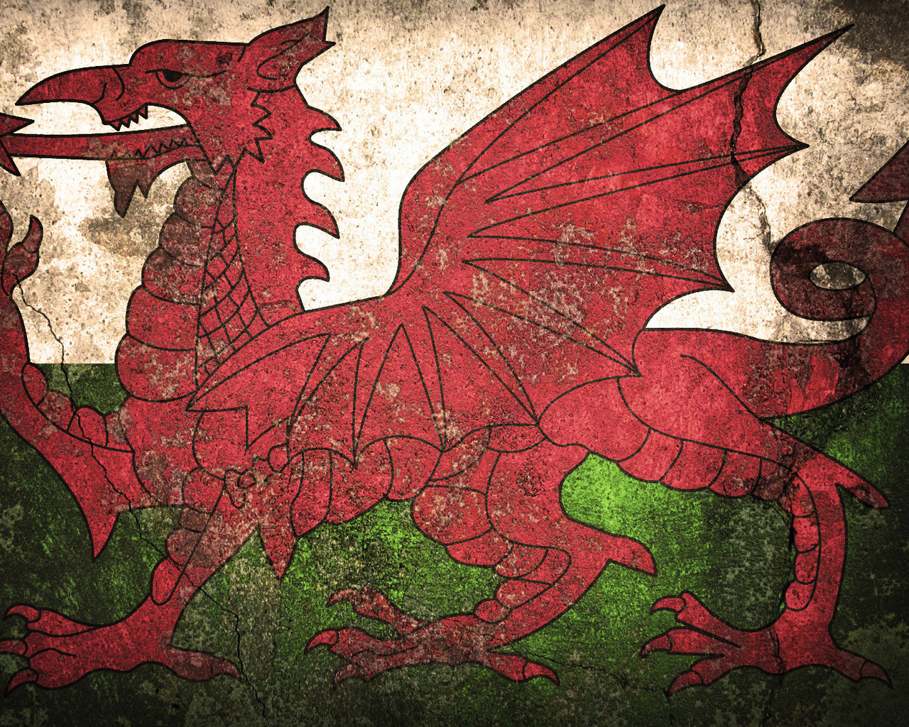 flag, welsh, флаг