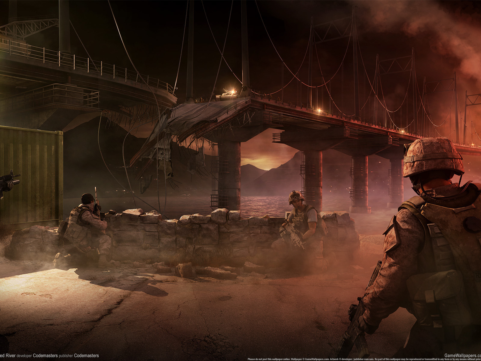 wallpaper, river, flashpoint, red, operation