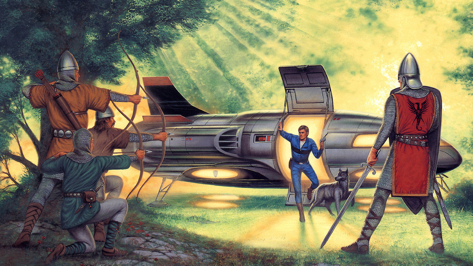 the welcoming party, картина, прошлое, david mattingly