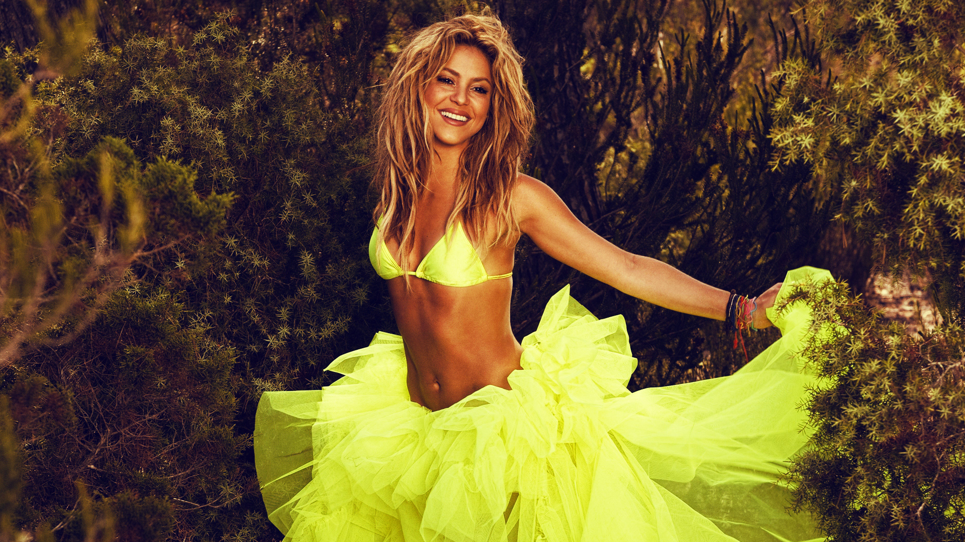 singer, colombia, green, latin, yellow, shakira, nature, music, colombian