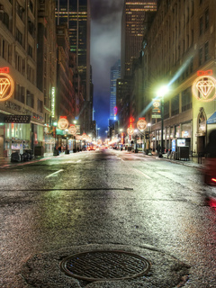 дорога, the hover car in the diamond age, огни, ночь