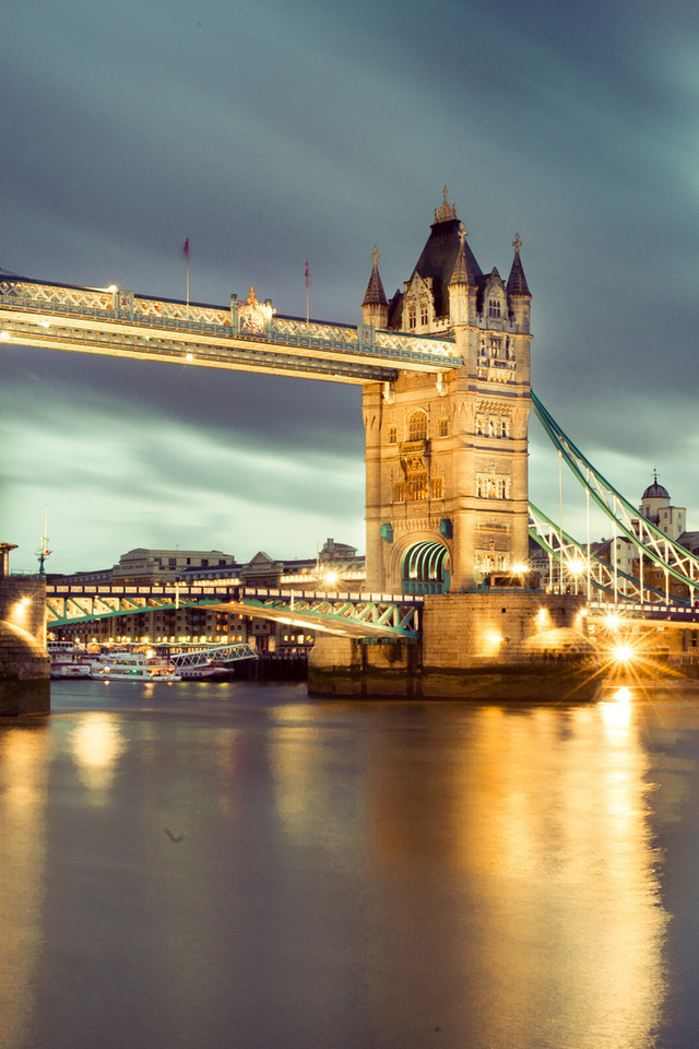 ночь, лондон, london, tower bridge, uk, night, england, thames river, англия