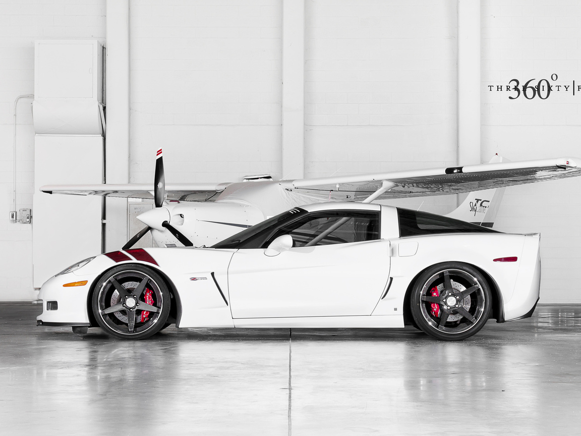 white, z06, ангар, шевроле, corvette, 360 three sixty forged, chevrolet, корвет