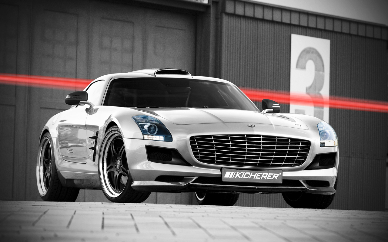 sls, kicherer, mercedes, мерседес, тюнинг