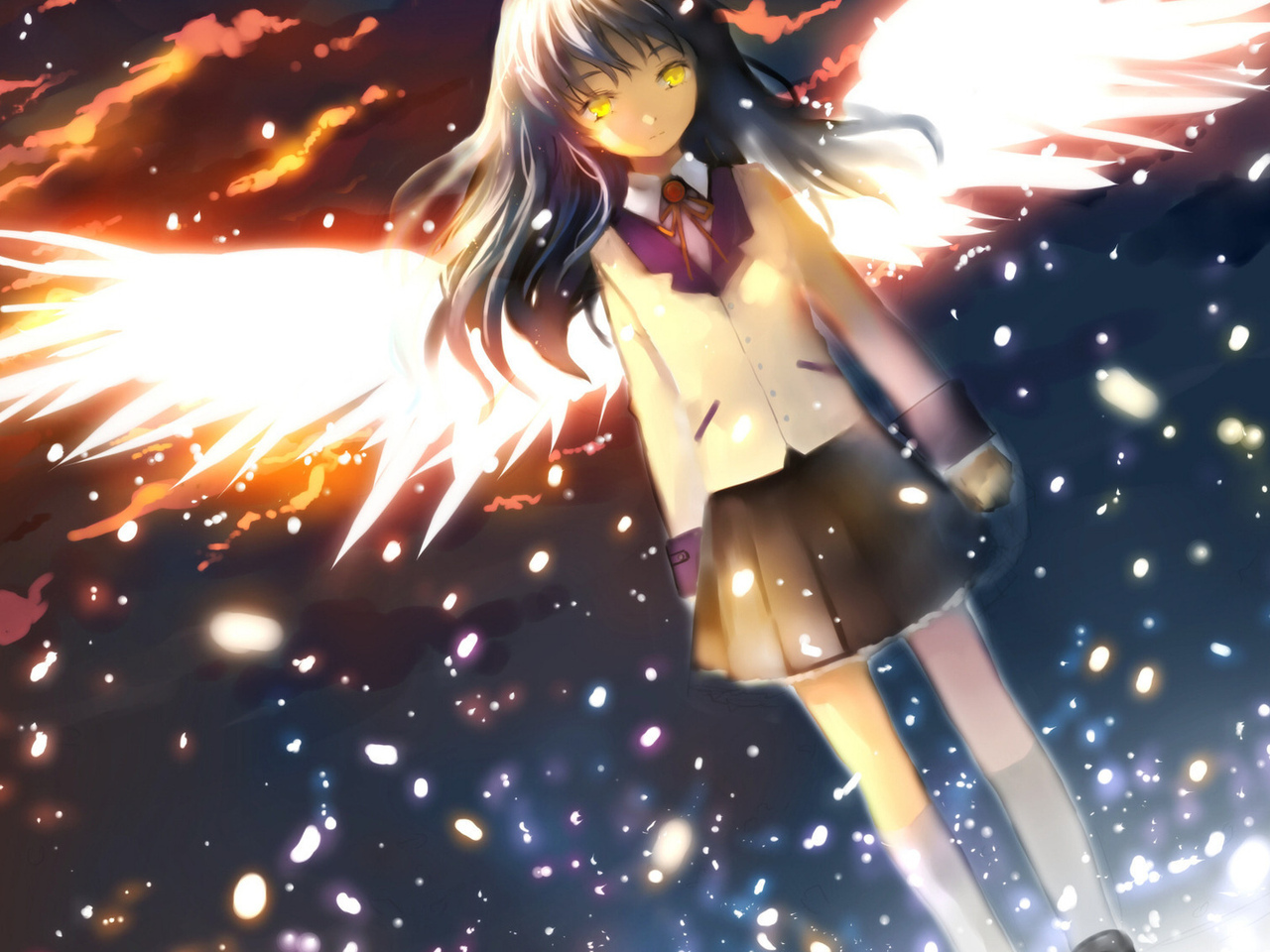angel beats, ангел, крылья, ангельские ритмы