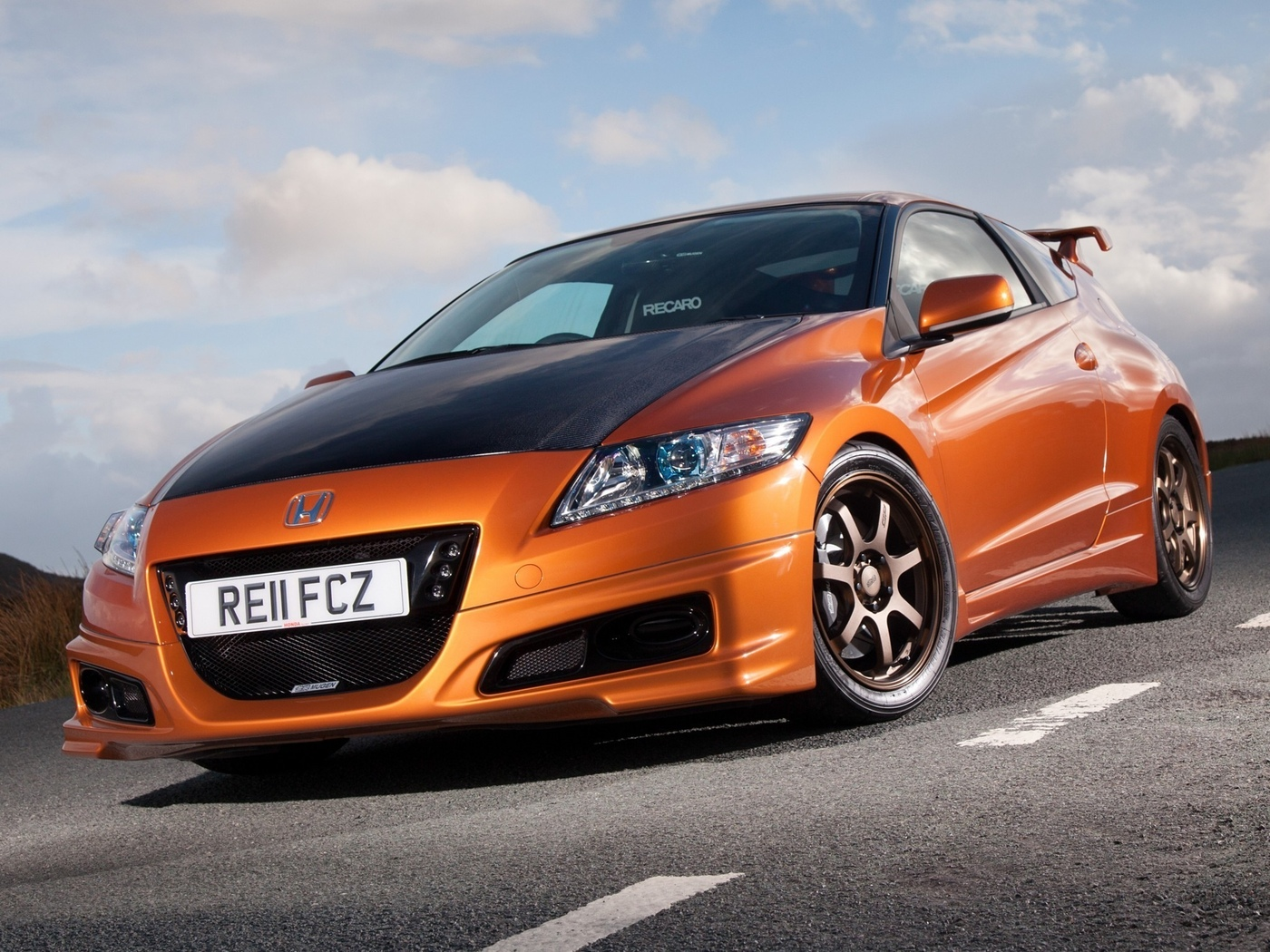 car, honda, mugen, orange, auto, cr-z