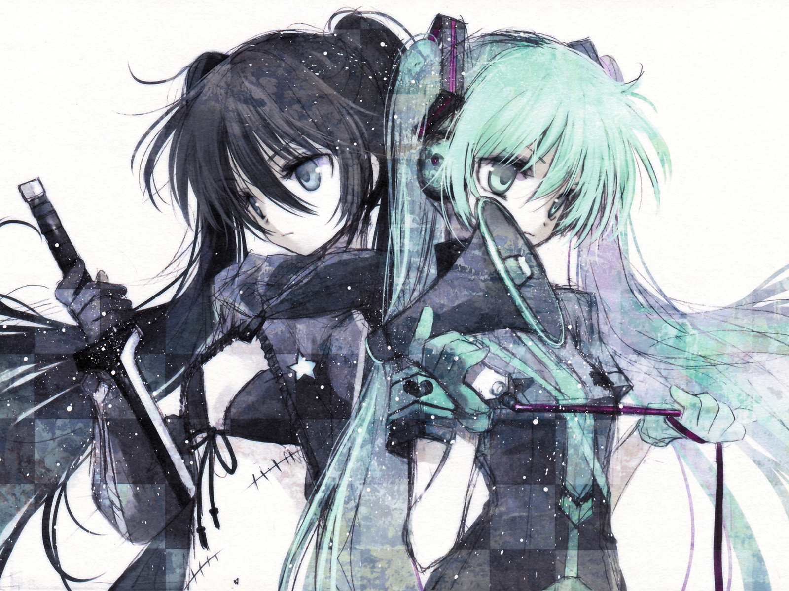 vocaloid, хацуне мику, hatsune miku, вокалоид, black rock shooter