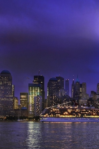 usa, new york, nyc, night, lower manhattan, ночь, нью-йорк