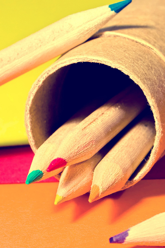 листки, macro, pencils, papers, colors, макро, краски, 2560x1600, карандаши