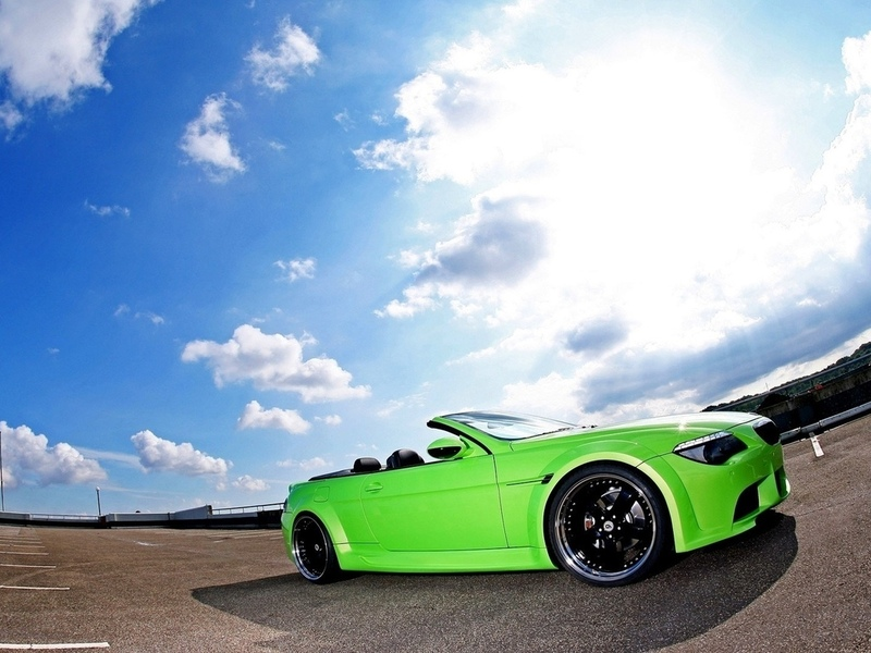 green, auto, bmw 6 series