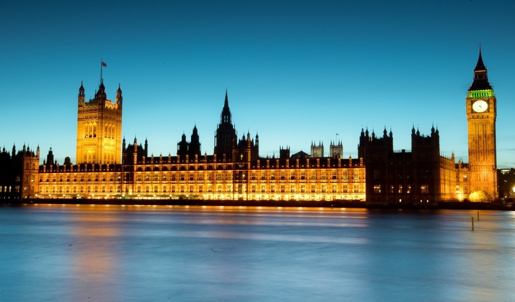 uk, лондон, англия, big ben, ночь, thames river, london, england, night