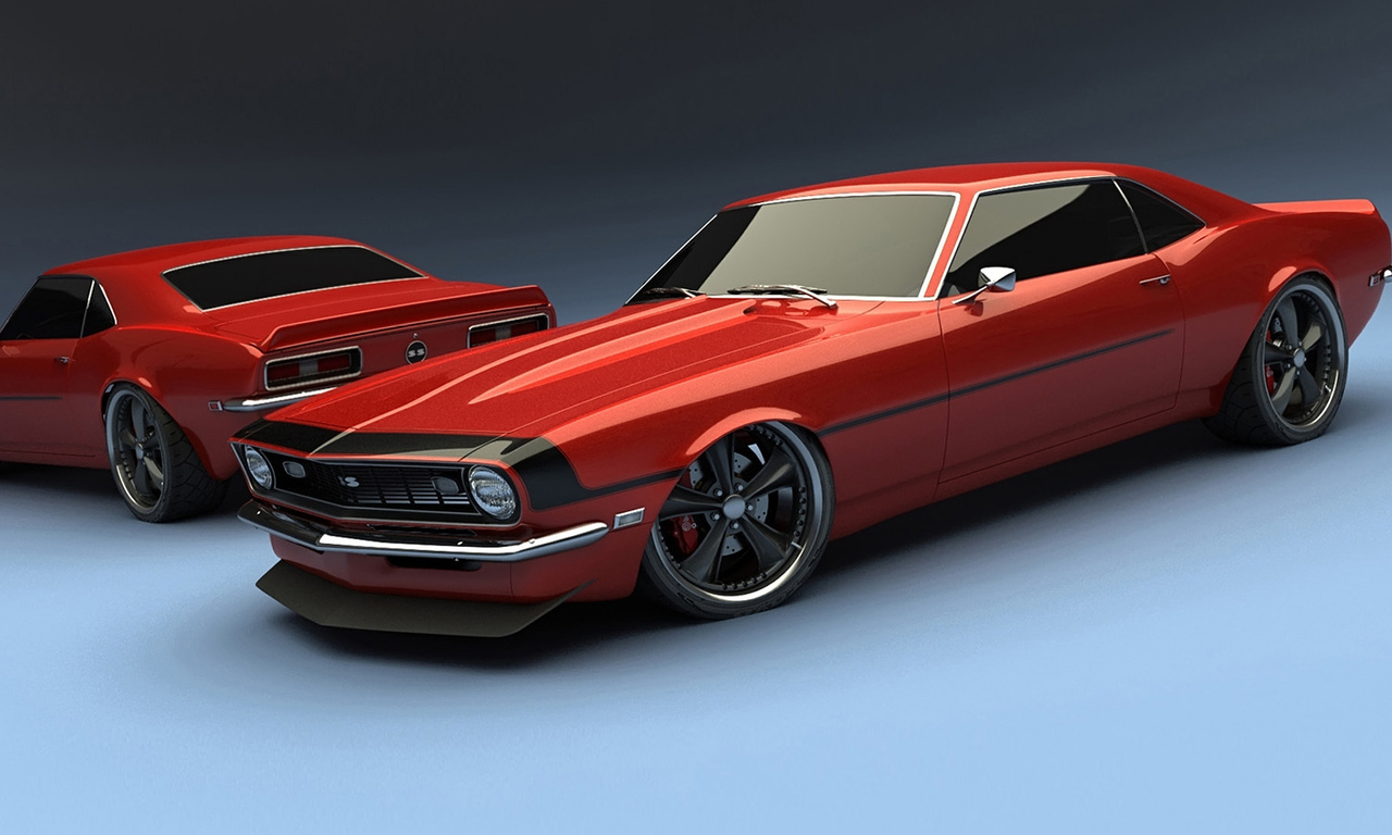 red, ss, tuning, musclecar