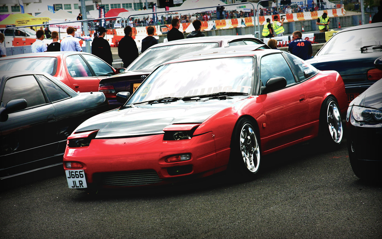 nissan, drift, 240sx, red