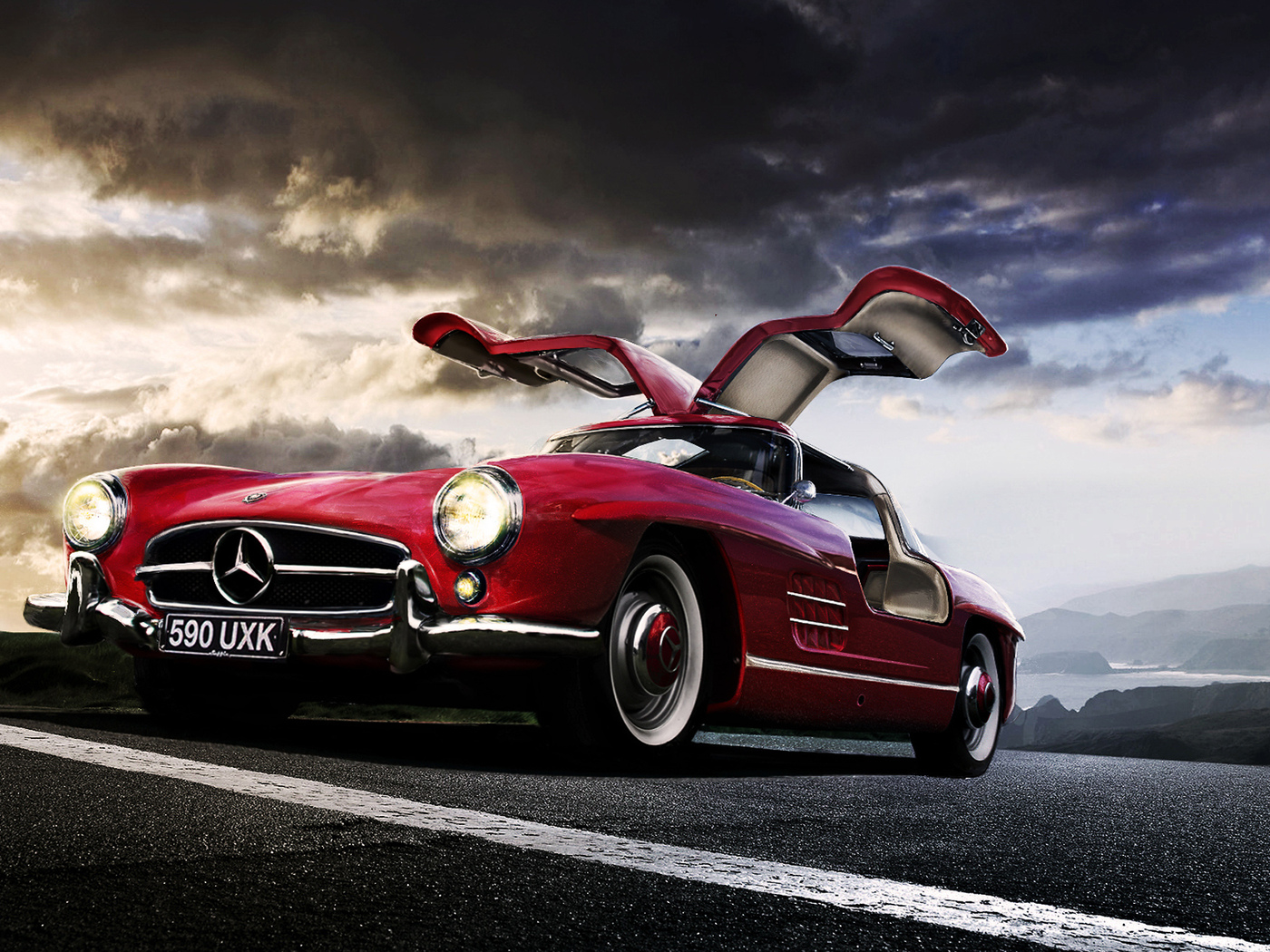 gullwing, mercedez benz, sl 300