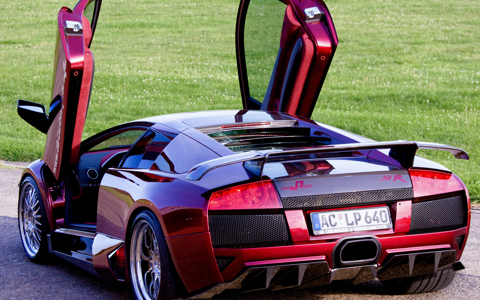 задняя часть, jb car design, lp640, lamborghini, ламбо-двери, murcielago, открытые двери