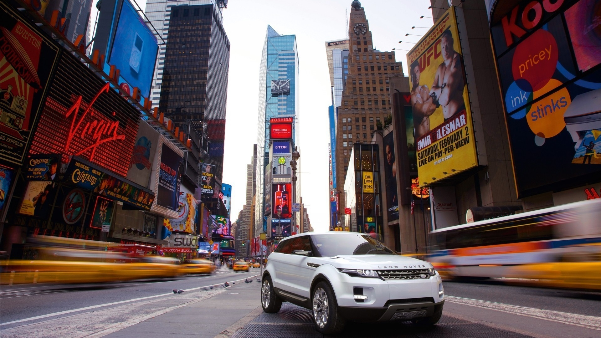 манхетен, land rover, new york