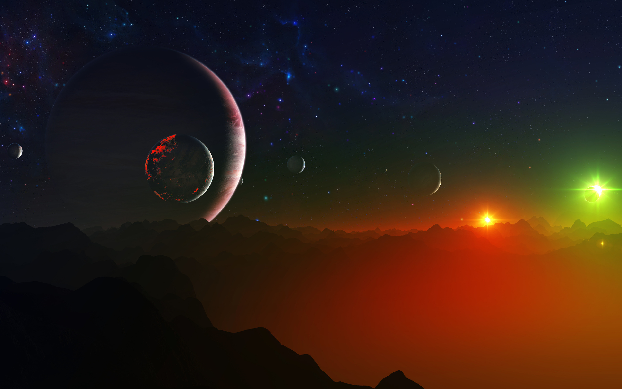 exoplanet backgrounds free - HD 2560×1600