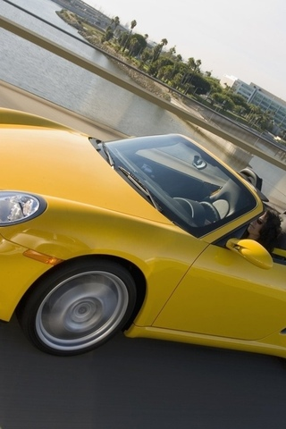 speed, boxster, town, yellow, road, porsche