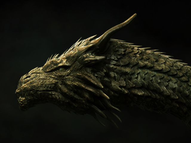 dragon, concept, head