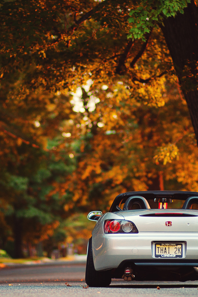 city, закат, улица, дорога, cars wall, солнце, лучи, honda s 200, cars, auto, wallpapers, вечер