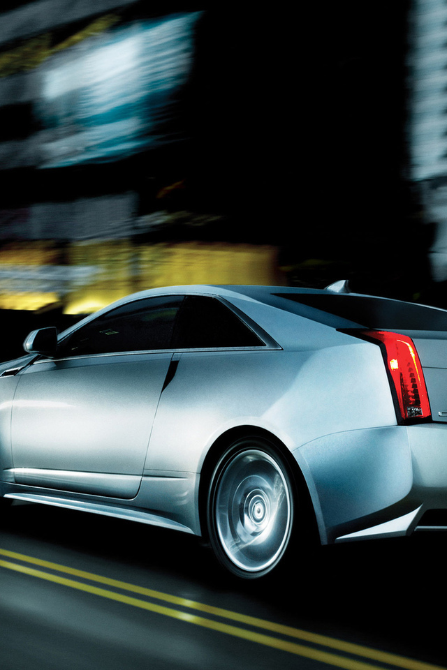 2011, cadillac cts coupe, движение, город