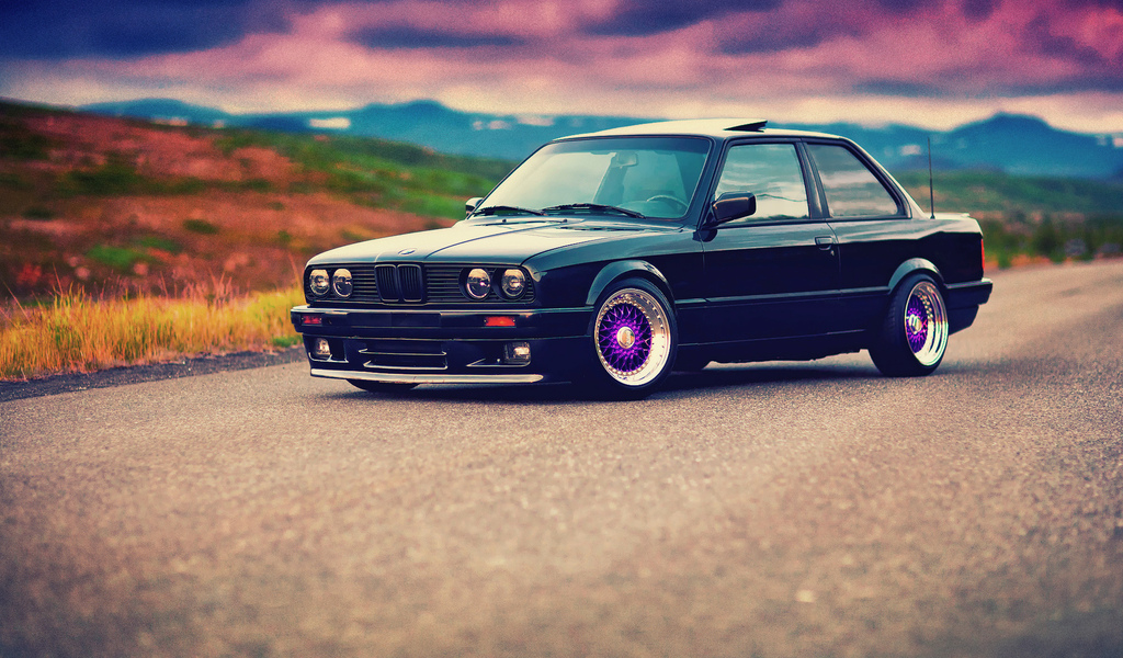 bbs, 325i, front, e30, 3 series, bmw, black