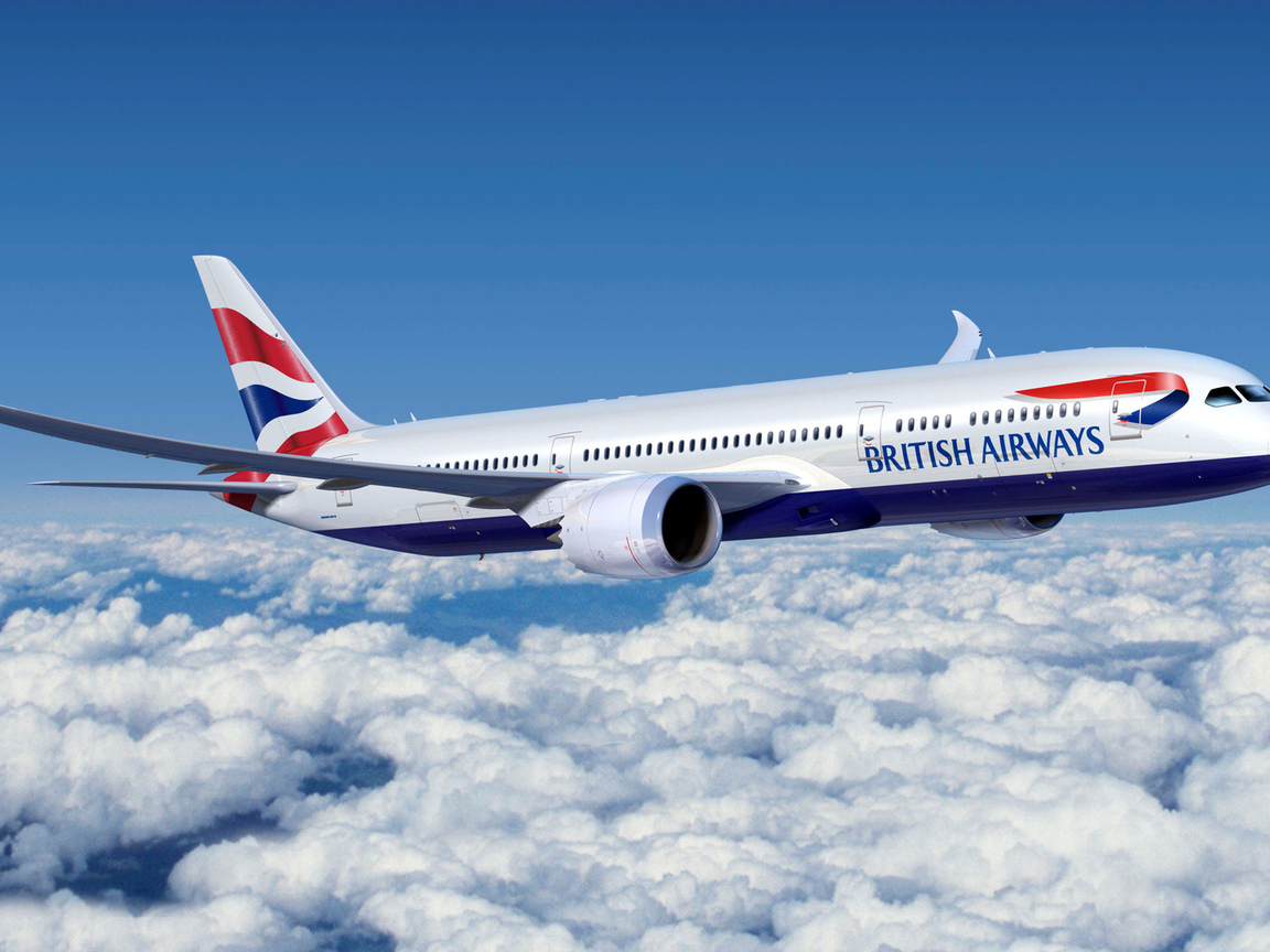 самолет, пассажирский, 777, british airways, авиалайнер, boeing