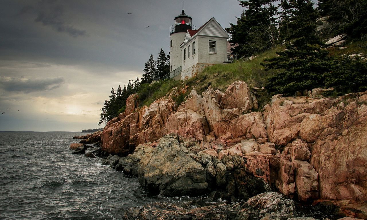 bass harbor lighthouse, мэн, maine, маяк, united states, штат, bernard, сша