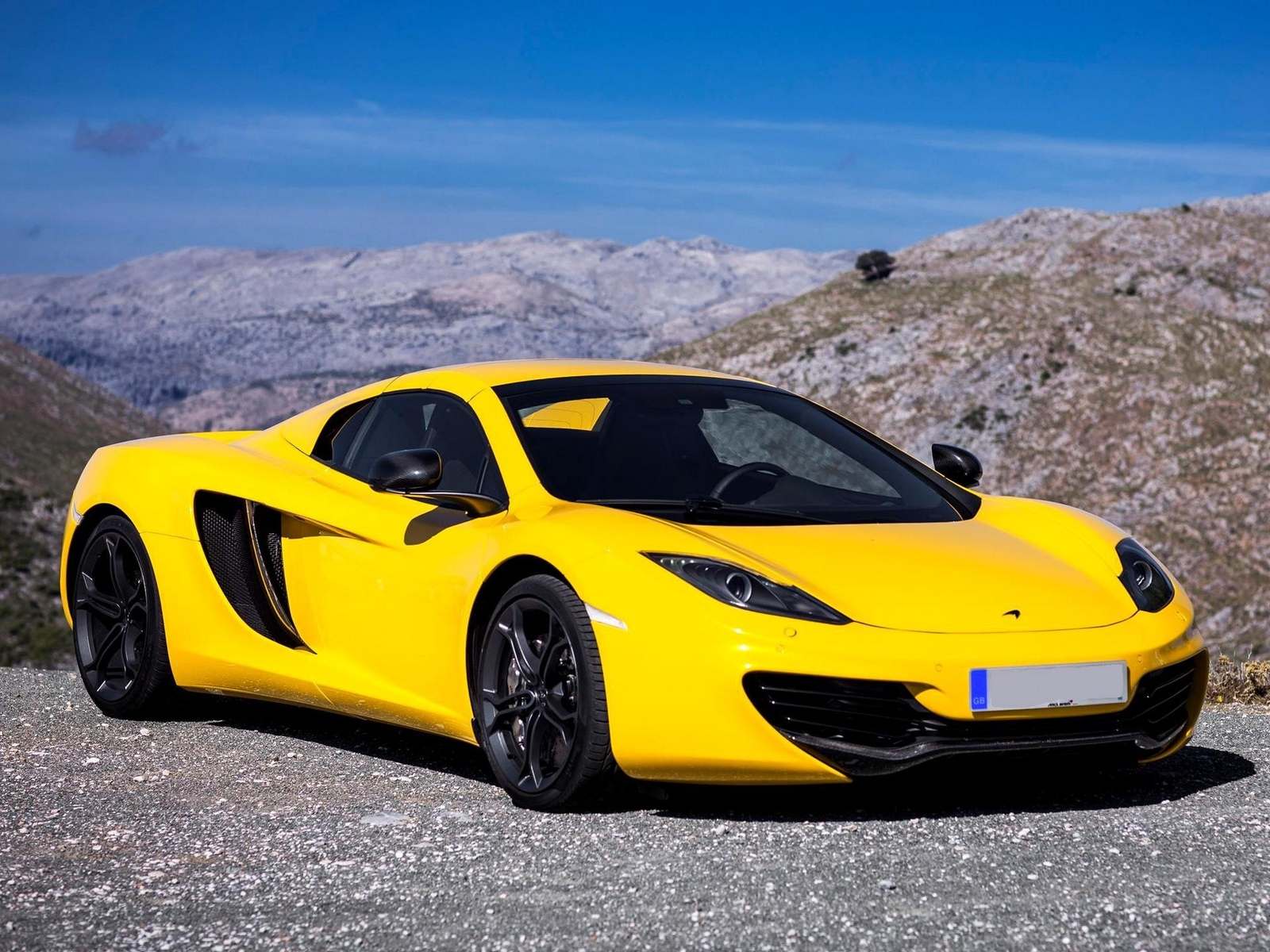 wallpapers, обоя, yellow, new, spyder, car, mp4-12c, автомобиль, mclaren, 2012
