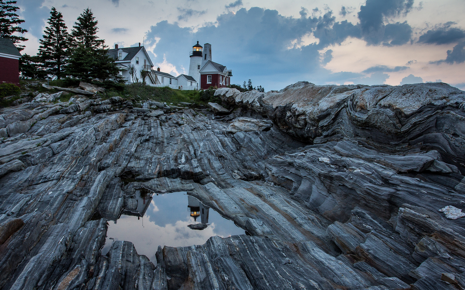 мэн, united states, сша, bristol, maine, штат, pemaquid point lighthouse, маяк