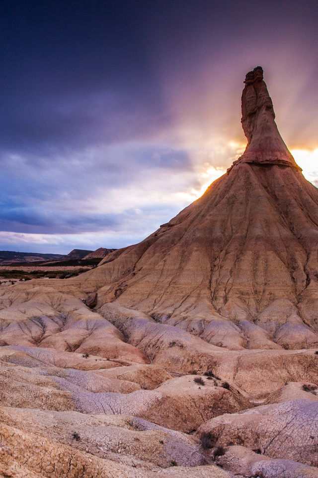 northern spain, закат, the bardenas reales national park, природа, гора