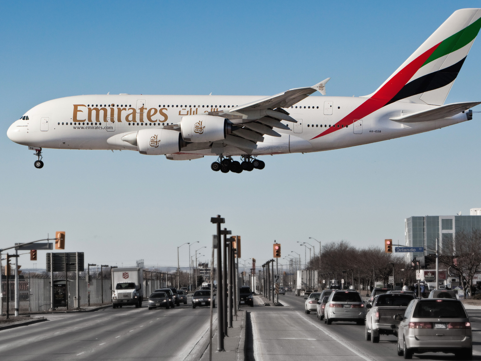 emirates airline, авиалайнер, a380, пассажирский, airbus, самолет