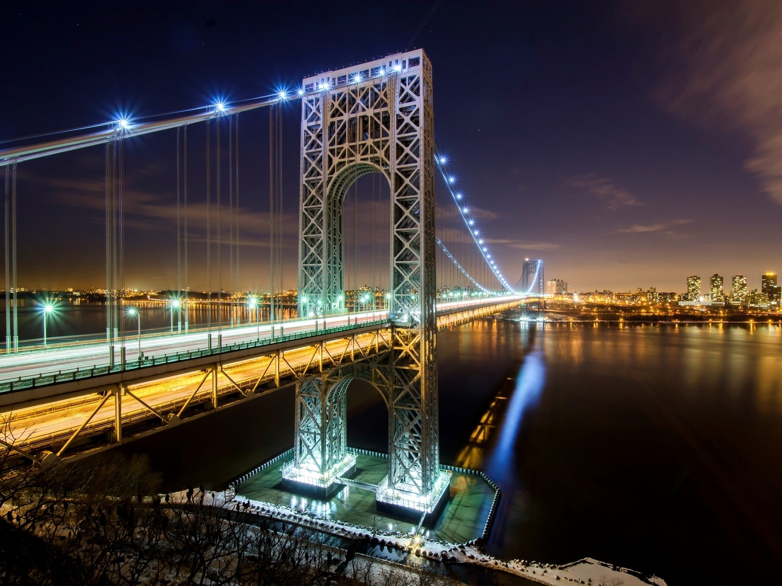 nyc, new york city, manhattan, george washington bridge, usa, hudson river, new jersey