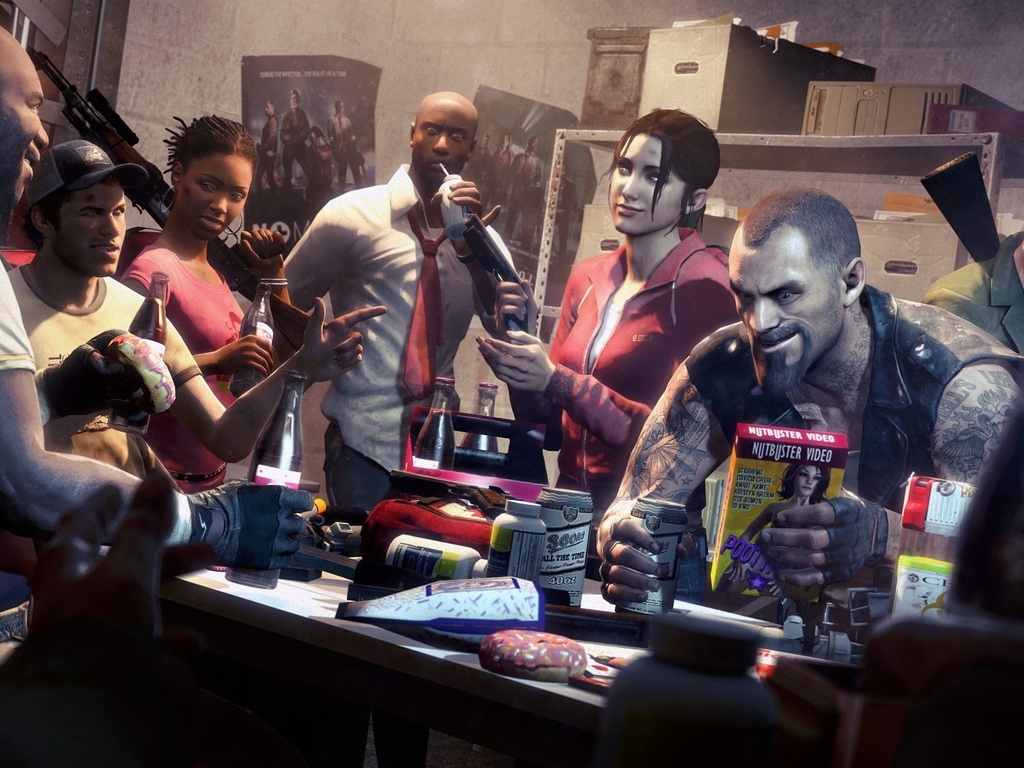 zoey, left 4 dead , louis, ellis, coach, bill, rochelle, nick, francis
