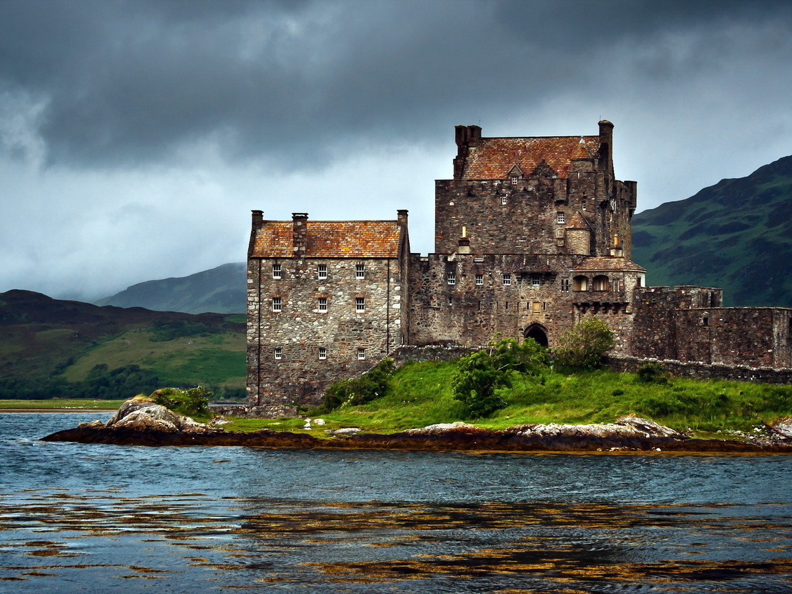 замок, scotland, united kingdom, dornie, озеро